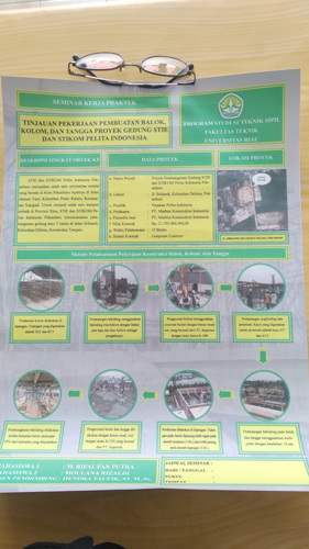 Poster Kerja Praktek Fakultas Teknik UNRI