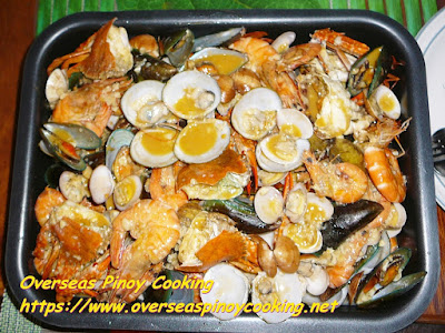 Pinoy Garlic Buttered Mix Seafood