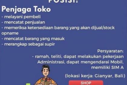 Lowongan Kerja Bali di UD. Mandiri Ternak Desember 2020