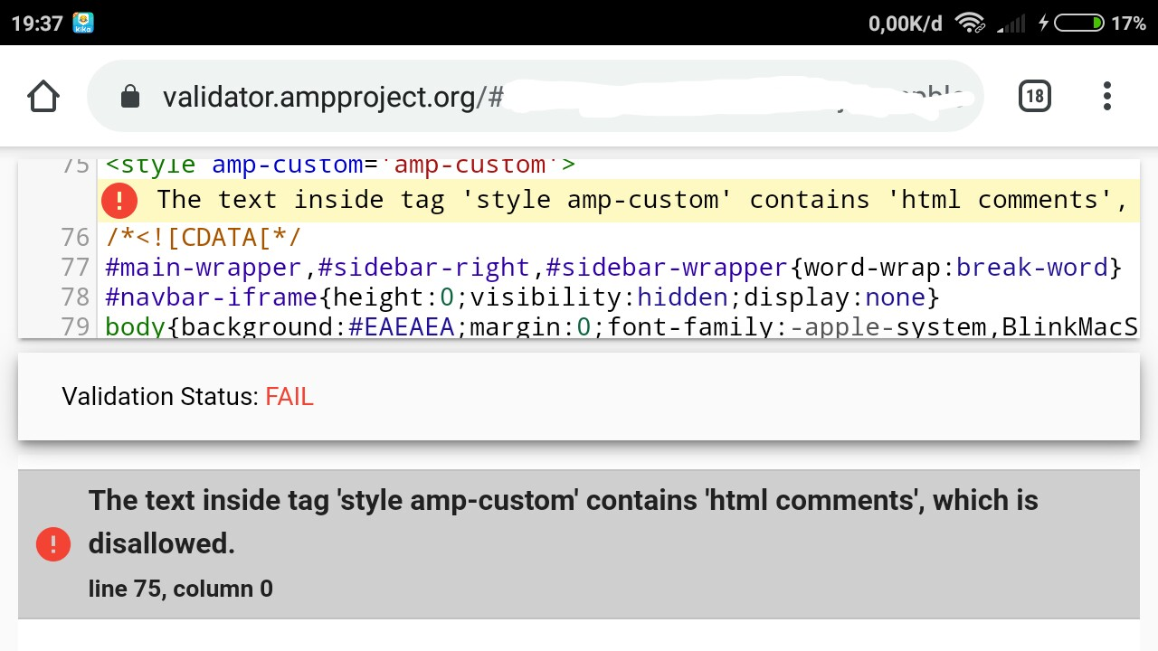 error-amp-contains-html-comments