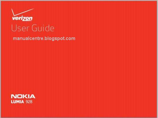 Nokia Lumia 928 Manual Cover