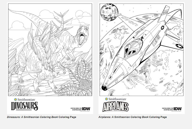 smithsonian coloring books