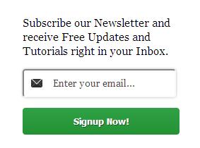clean email widget