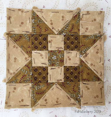 Dear Jane Quilt - Block K13 Brandon's Star