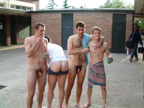 Naked lads in public consider