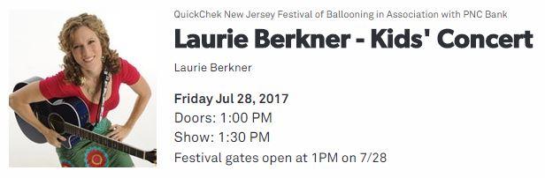 Laurie Berkner Band on Quick Chek NJ Festival of Ballooning 2017
