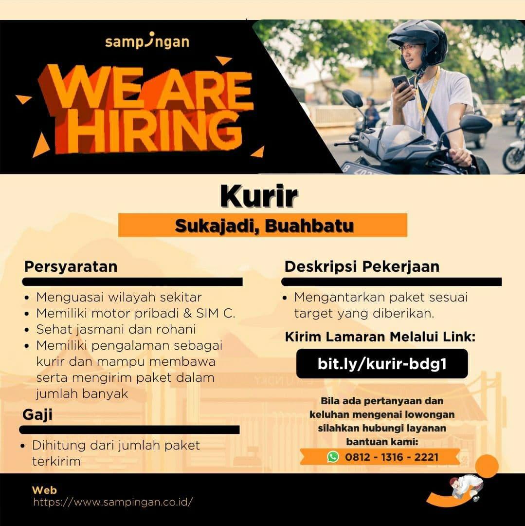 Lowongan Kerja Kurir & Merchan Acquisition Sampingan Bandung Mei 2021
