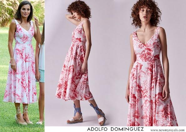 Queen Letizia wore Adolfo Dominguez floral print dress