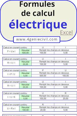 Calcul du courant électrique continu