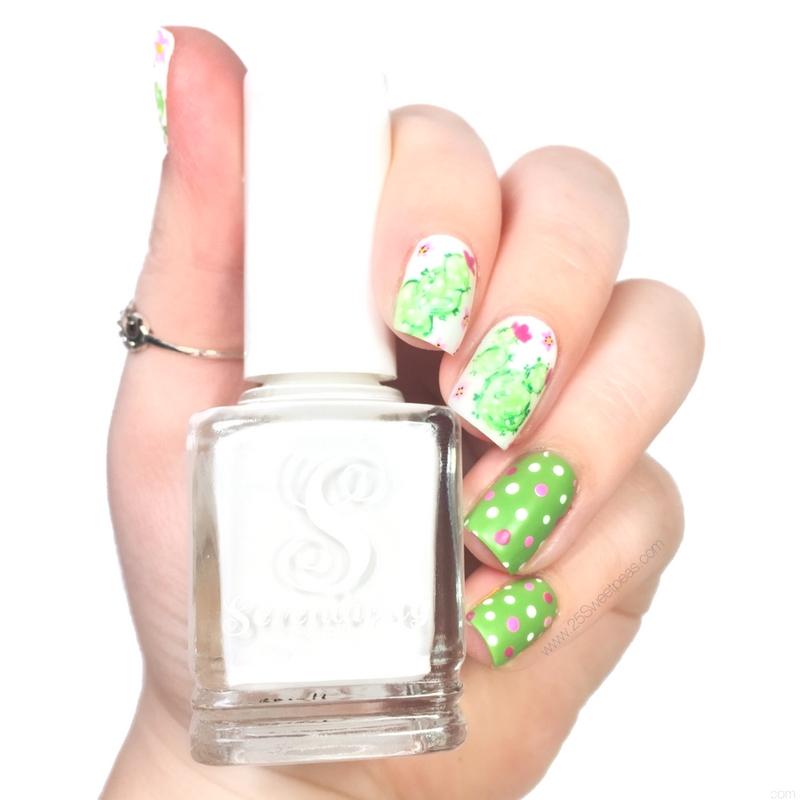 Watercolor Cacti Nail Art