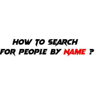 How to search for people by last name?