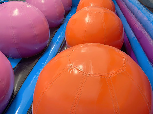 giant orange inflatable balls