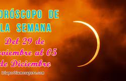 🌔 Horóscopo de la semana: Del 29 de noviembre al 05 de diciembre