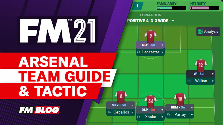 Football Manager 2021 Arsenal 4-3-2-1 Tactic | Team Guide | FM21