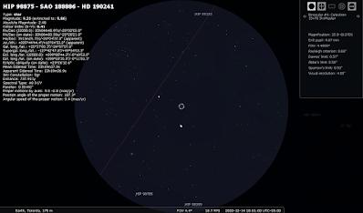 Saturn and Jupiter in binoculars Dec 14