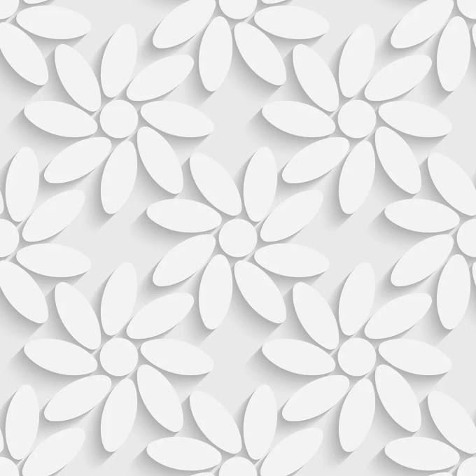 Papel De Parede Floral Estilo 3d Flores Gelo Vinil