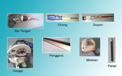 Alat-alat yang digunakan dalam pembuatan model pembangkit listrik sederhana energi angin