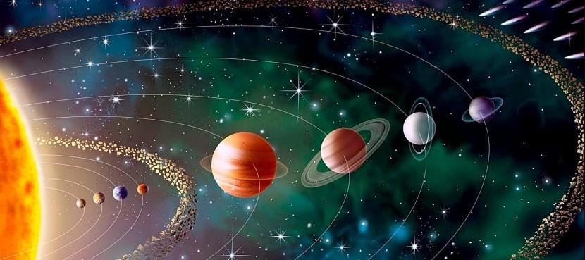 foto del sol y los planetas dentro des sistema solar