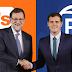 PP y Ciudadanos firman un pacto que abre la negociación para la investidura de Rajoy