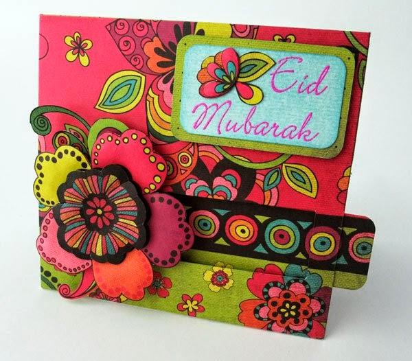 colorful eid handmade cards