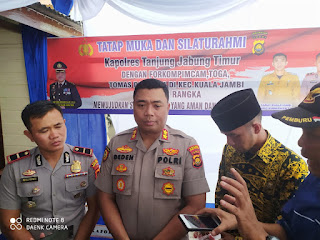 Sebut Kuala Jambi Jalur Nyaman Penyelundupan, Kapolres Akan Siagakan Personil yang Berkompeten