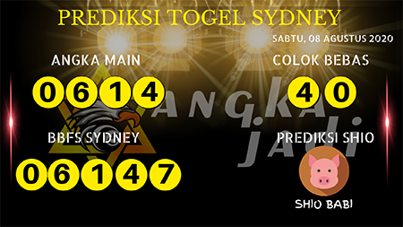 Prediksi Angka Jitu Sydney Sabtu 08 Agustus 2020