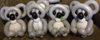 Koala Bären als Ballondekoration.