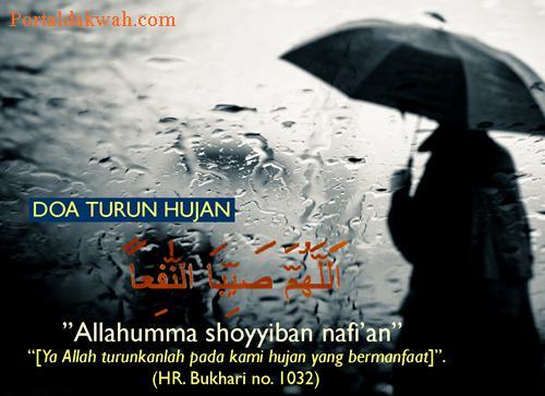 Bacaan Doa Ketika Turun Hujan Lebat dan Setelah Reda
