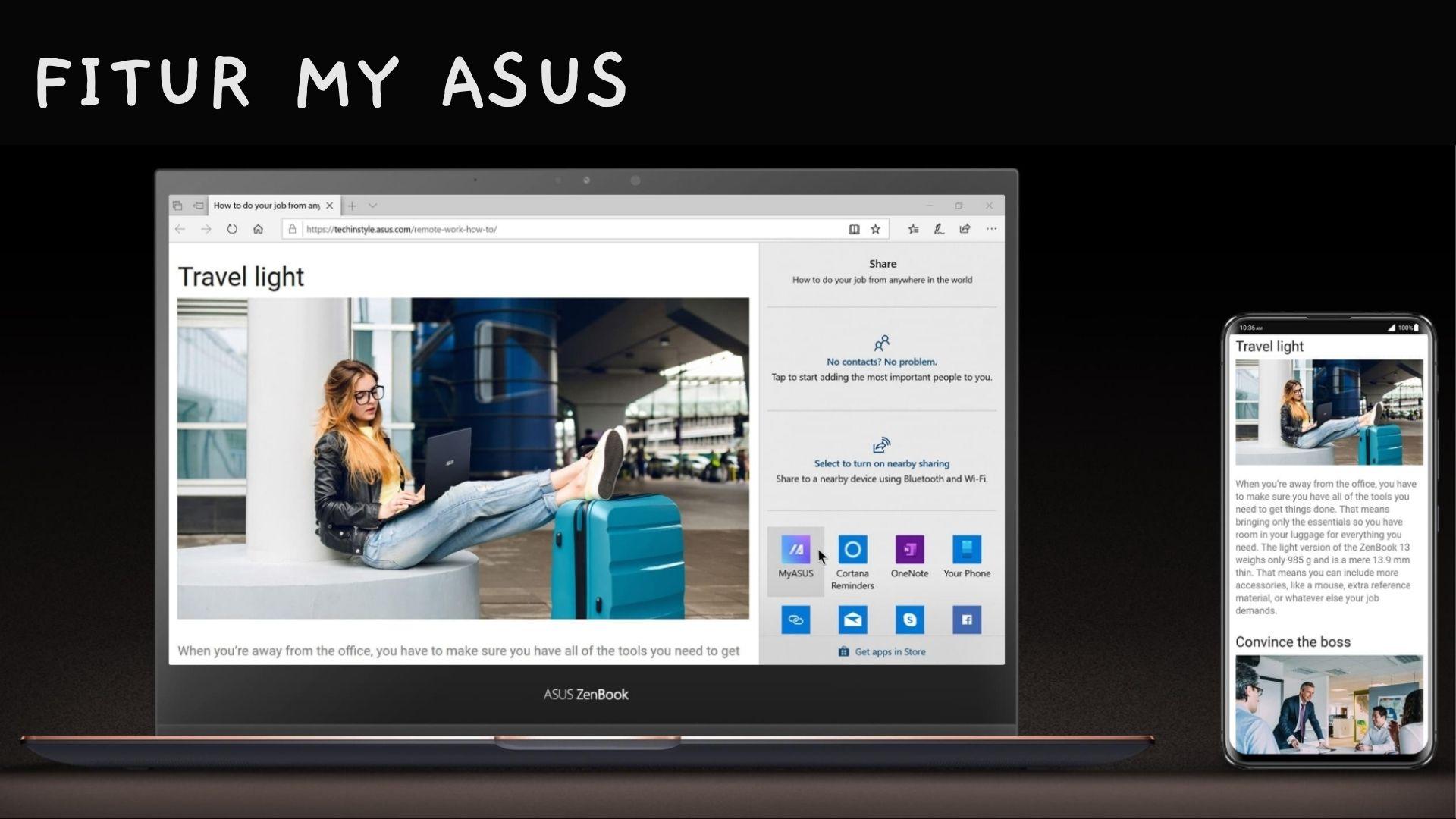 Fitur MyASUS Zenbook Flip S UX371