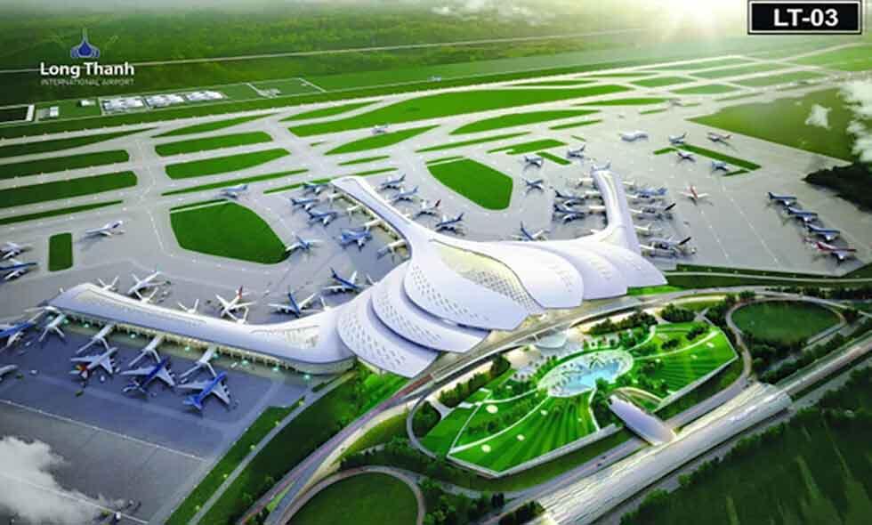 mô hình sân bay quoc te long thành