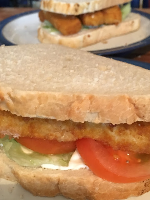 fish finger sandwich #recipe