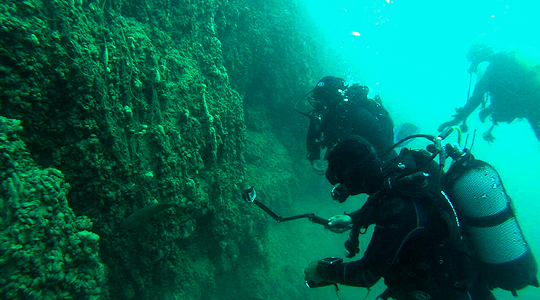 Underwater archaeology training in Ohrid