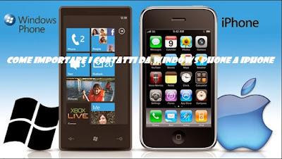 Come importare contatti smartphone Windows Phone su iPhone: TUTORIAL