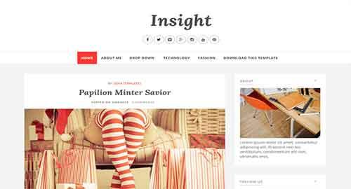 Insight Blogger Template