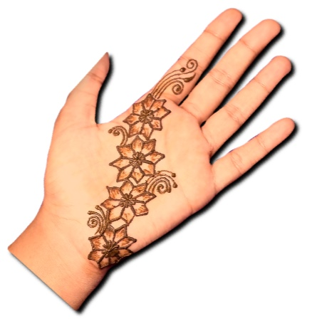 Easy Floral Mehndi Design