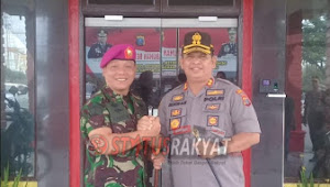 Kapolres Belawan AKBP Ikhwan Lubis SH. MH Menerima Kunker Danyonmarhanlan-I Dalam Menjalin Sinergitas TNI - POLRI