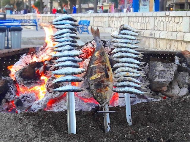 Espeto de Sardines in Malaga