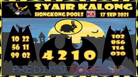 Syair Kalong HK Malam ini 17 September 2021