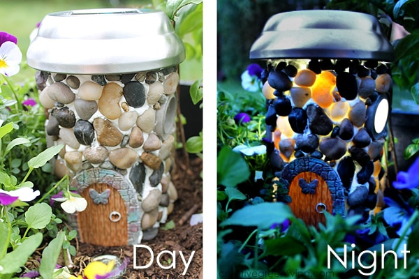Make a solar powered fairy house to put in your garden or use as a night light from an empty plastic bottle.
