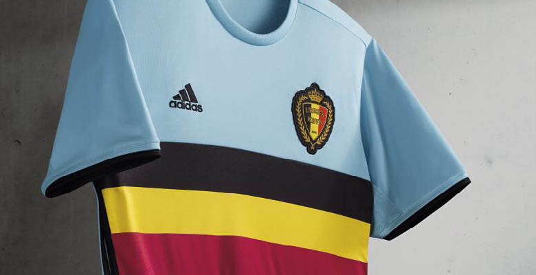 727eeba97 The new Adidas Belgium Euro 2016 Away Jersey introduces a totally new  design for the Belgium national football team