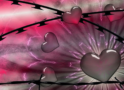 hearts with barbed wire pic