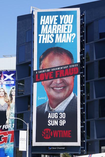Love Fraud series launch billboard