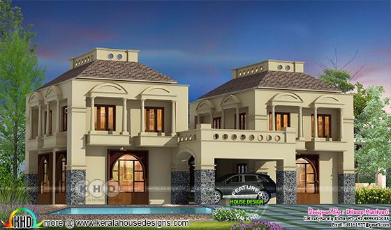 2780 sq-ft 4 bedroom Arabian model house plan