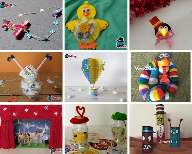 lavoretti creativi riciclando bottiglie di plastica, rotoli di cartone e vasetti di vetro