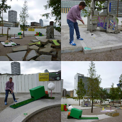 PUTT PUTT #2 art installation Crazy Golf course in Croydon