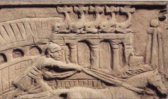 Relieve de la tumba dedicada a un Auriga. Circo de Roma