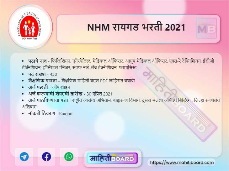NHM Raigad Recruitment 2021