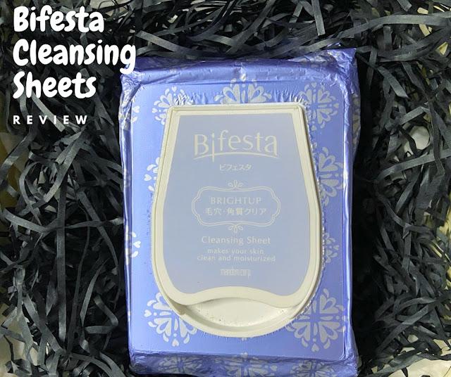 bifesta cleansing sheet review
