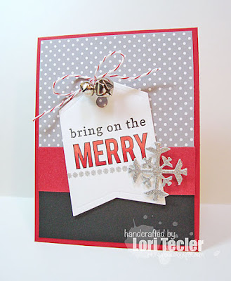 Bring on the Merry card-designed by Lori Tecler/Inking Aloud-stamps and dies from Reverse Confetti