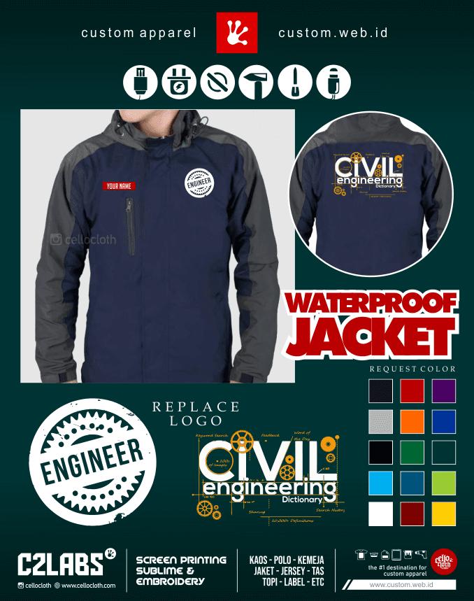 Engineer Civil Engineering Jacket - Jaket Tehnik Sipil - Konveksi Jaket Jogja